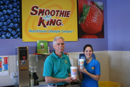 The Smoothie King and His Assistant
