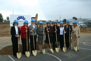 Santee School District Principals Pose with Ceremonial Shovels