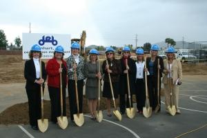 Santee School District Principals Pose with Ceremonial Shovels