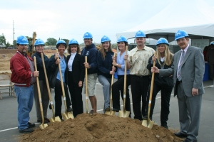 Cajon Park Middle School Teachers Pose at Groundbreaking