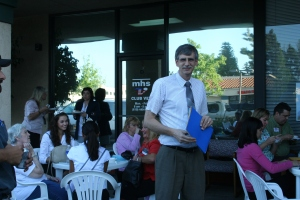 Dr. Albert Klitzke hosted the April Chamber Mixer