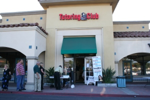 Chamber Members line up for the After-5 Mixer at Tutoring Club
