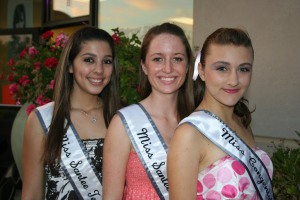 Maria Maes (Miss Santee Teen 4th Runner Up), Cara Henson (Miss Santee Teen 3rd Runner Up), and Emily Zobel (Miss Congeniality)