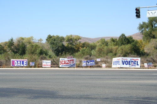 Political Signs 125 & MGR