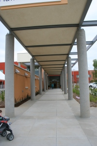 Walkway to Main Entrance