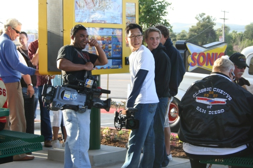 News Crews Go Sonic