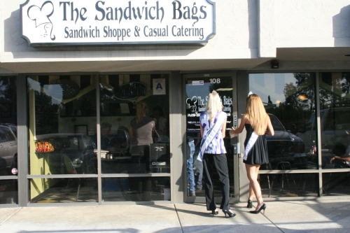 Arriving at The Sandwich Bags