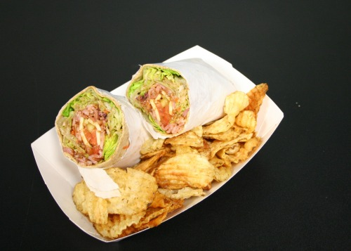 Barbecue Ham Wrap and Chips