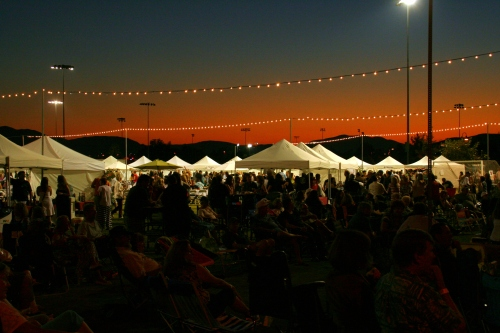 The sun sets over the 2013 Santee Bluegrass Festival